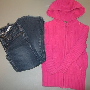 Faded Glory Jeans & Arizona Hoodie Sweater Sz 4